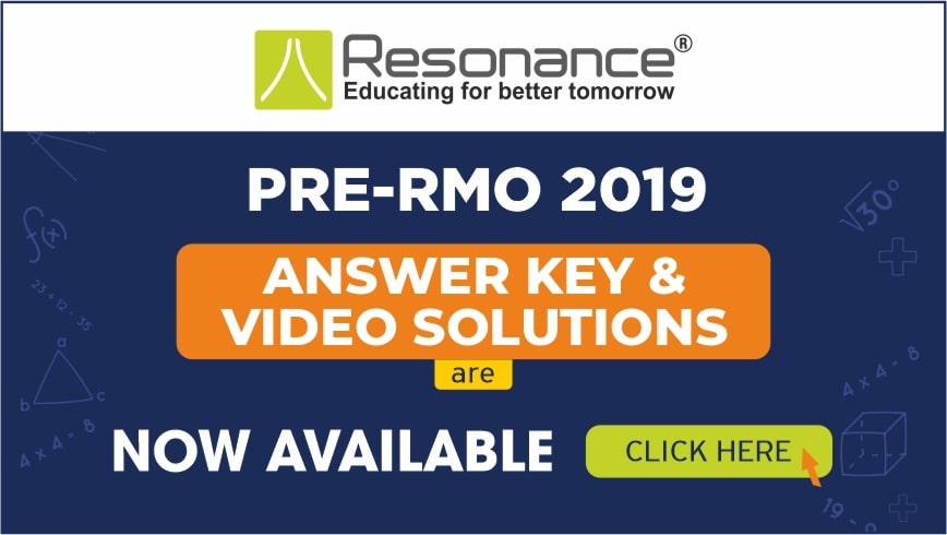 PRMO 2019 Answer Key, Solution, Paper Analysis by Resonance