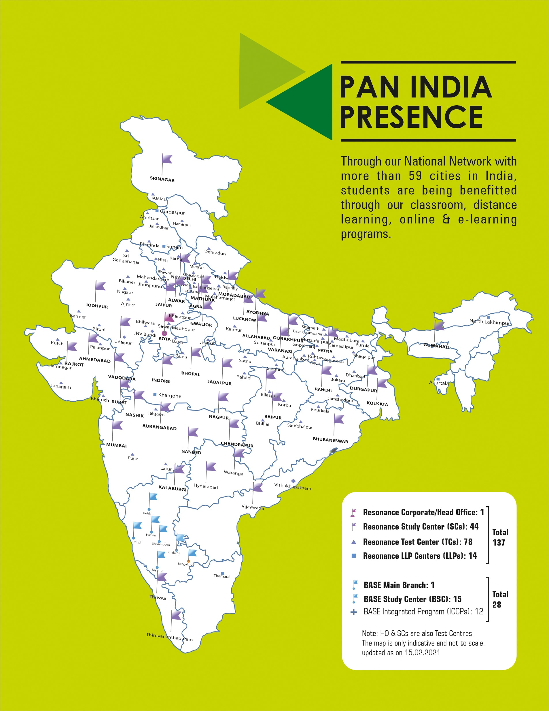 Resonance PAN India Network MAP