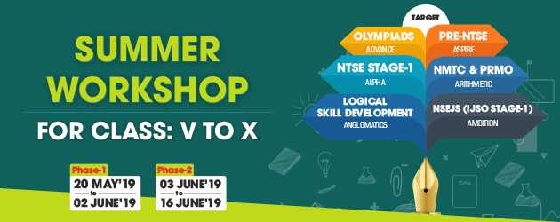 Summer Workshop for Class 5 to 10