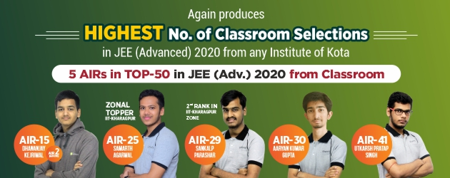 JEE Advanced 2020 Result TOP-50 AIR's