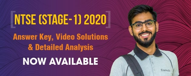 NTSE Stage-1 2020 Answer Key & Solutions