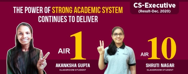 CS Executive Dec 2020 Result AIR-1 & AIR-10