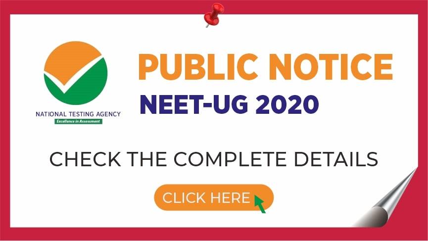 Neet 2020 Public Notice Released By Nta