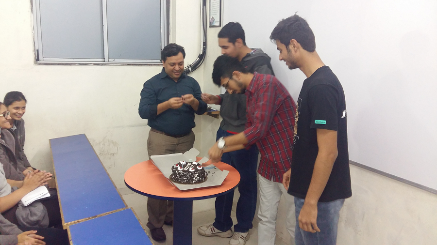 Cake cutting ceremony with IIT & NIT Selected students