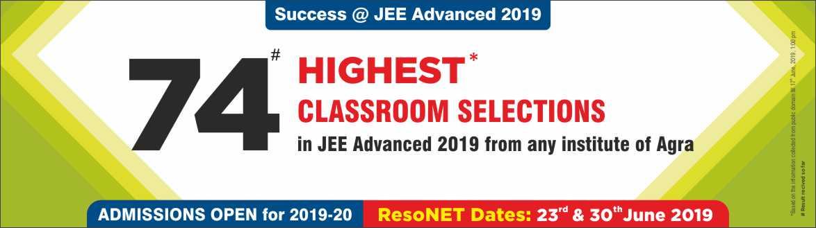 JEE Advanced 2019 - Resonance Agra Produced Excellent Result