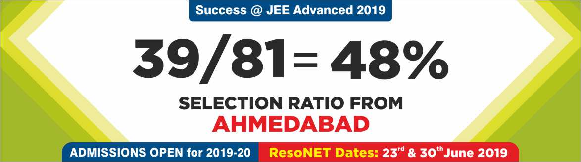 JEE Advanced 2019 - Resonance Ahmedabad Produced Excellent Result
