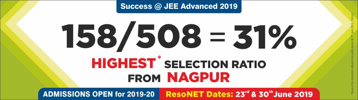 JEE Advanced 2019 - Resonance Nagpur Produced Excellent Result