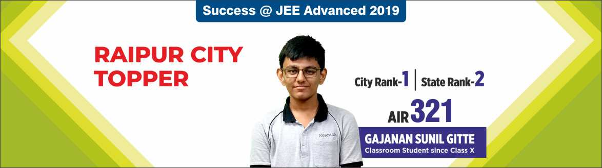 JEE Advanced 2019-Resonance Raipur produced excellent Result
