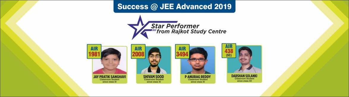 JEE Advanced 2019 - Resonance Rajkot & Jamnagar produced excellent Result