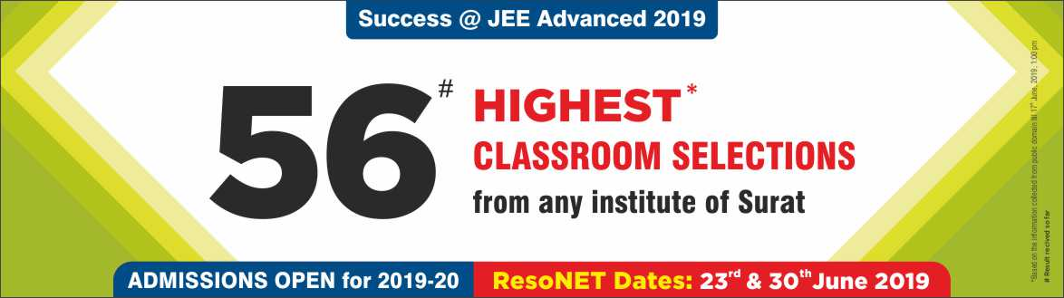 JEE Advanced 2019 - Resonance Surat Produced Excellent Result