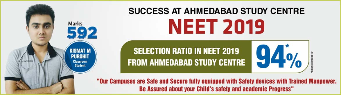 NEET 2019 Result- Students of Resonance Ahmedabad performed brilliantly