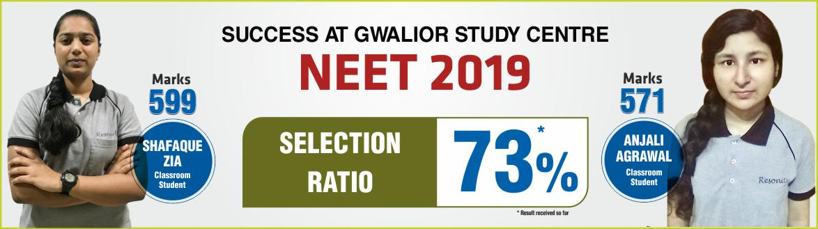 NEET 2019 Result- Students of Resonance Gwalior performed brilliantly