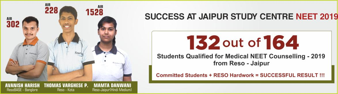 NEET 2019 Result- Students of Resonance Jaipur performed brilliantly