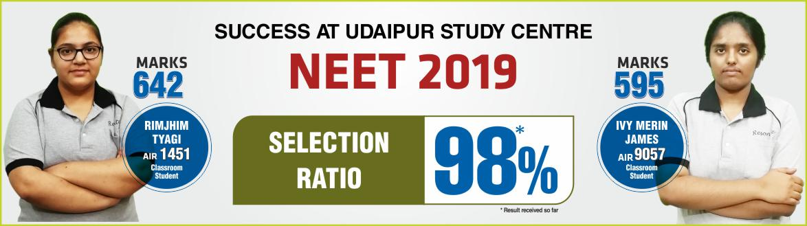 NEET 2019 Result- Students of Resonance Udaipur performed brilliantly
