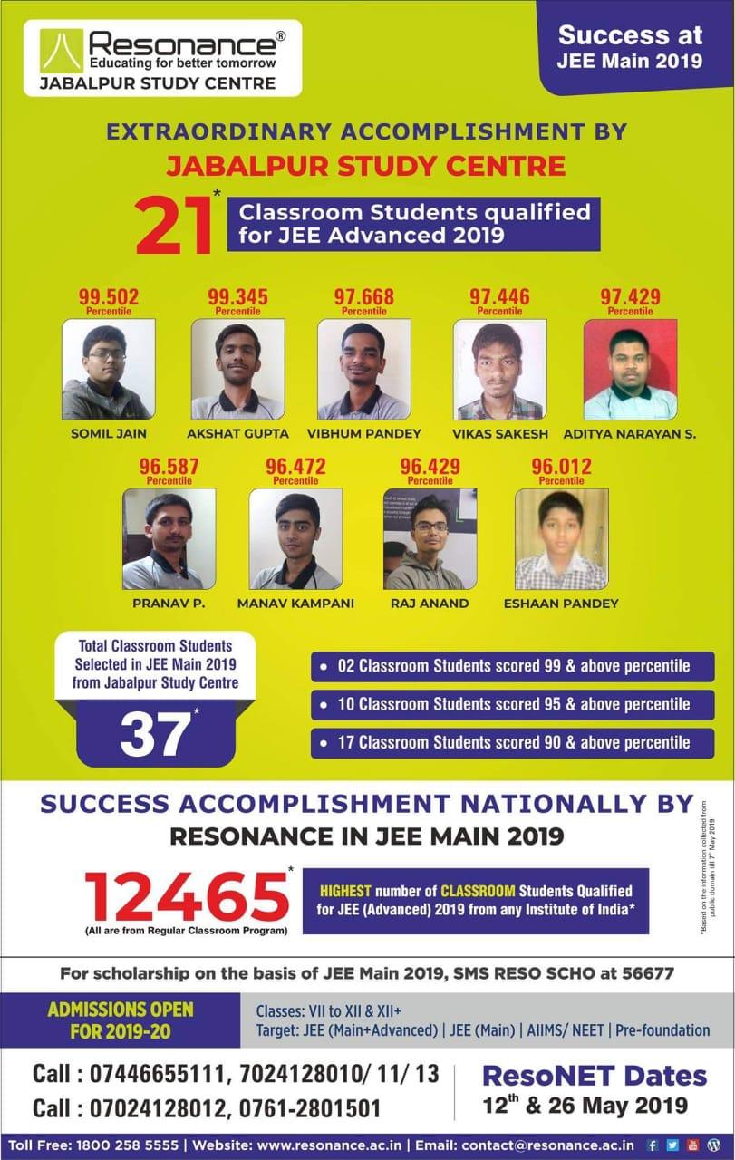 SUCCESS AT JEE MAIN 2019
